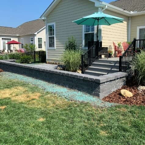 Front Yard Patio Contractor in Powell Ohio